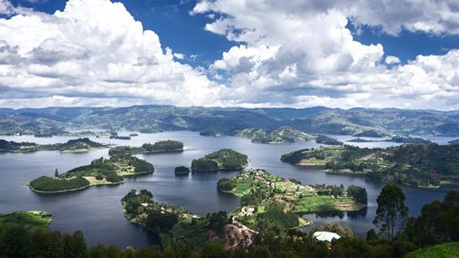 Beautiful Evening View Of Lake Bunyonyi